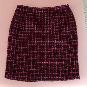 Calvin Klein black pink skirt 12P